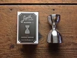 cocktail kingdom medidor leopold 1oz y 2 oz c1129