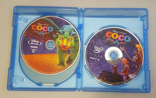 coco disney pixar pelicula blu-ray + dvd + bonus soundtrack