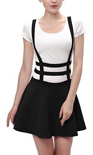 coco urbano mujer cintura ástica plisada falda tirantes co