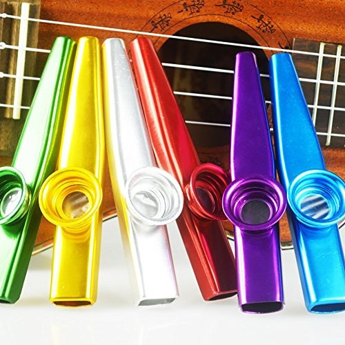 cocode set of 6 colors metal kazoo musical instruments good