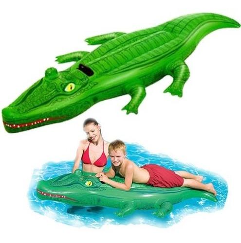 cocodrilo flotador inflable bote pileta chicos juego animal