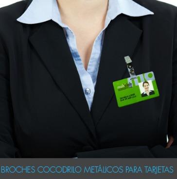 cocodrilo metalico broche para tarjetas pvc pack 100u fact a