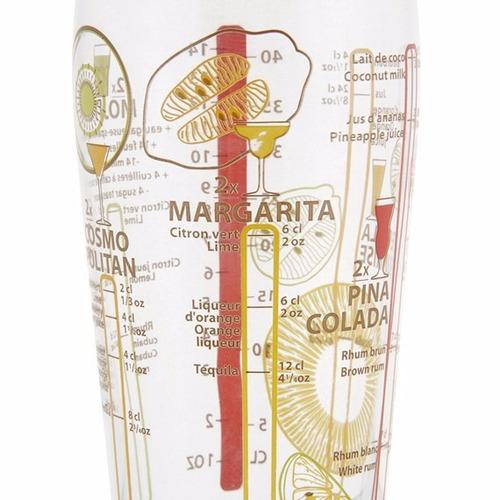 coctelera luminarc shaker mundial coctail 585 ml. e9350