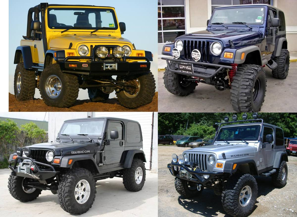 Cocuyos Jeep Wrangler Tj 97 - 2006 Rubicon    Frontales