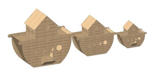 (cod 5003) vetor, desenho dxf, cdr, corte laser arcas de noé