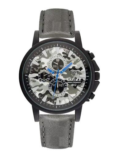 cod 552 - reloj yazole canuflado gris - joyas margaret