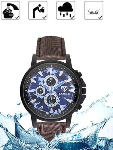 cod 816  - reloj yazole camuflado azul - joyas margaret