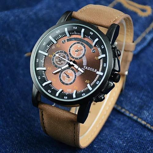cod 888 - reloj yazole marron malla marron - joyas margaret