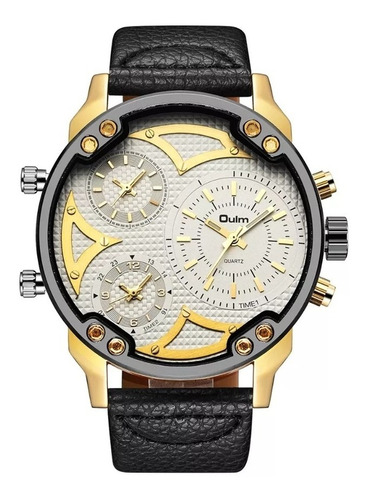 cod 984 - reloj oulm blanco malla cuero - joyas margaret