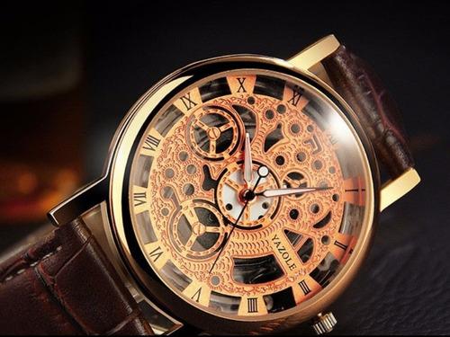 cod 988 - reloj yazole esqueleto cobre - joyas margaret