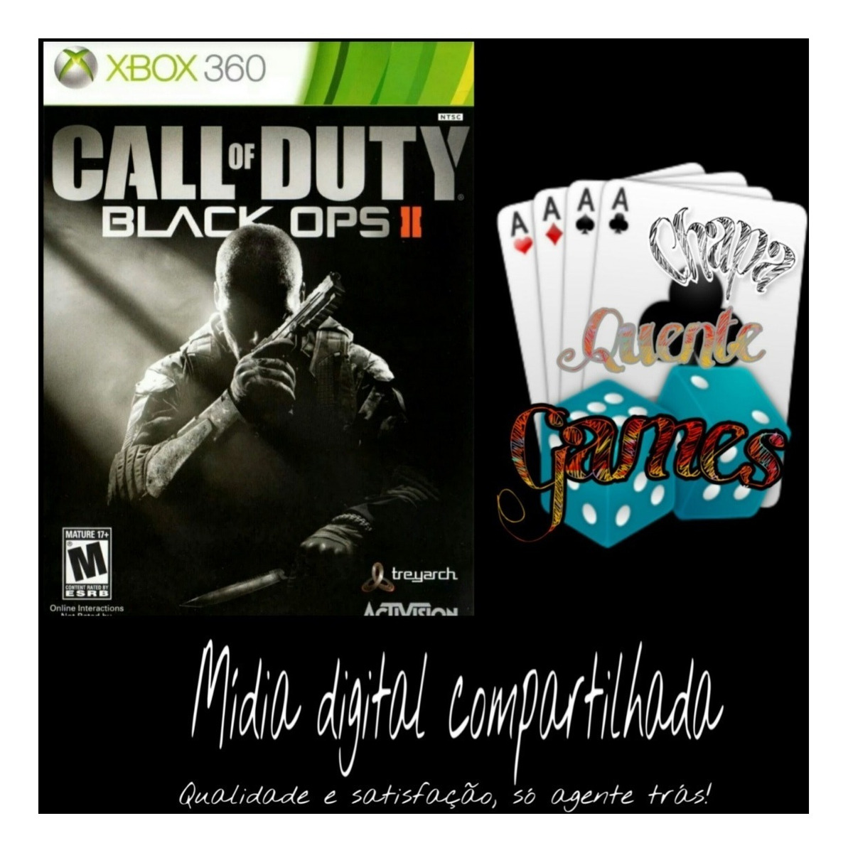Cod Black Ops 2 Compartilhado Digital X360 + Brinde