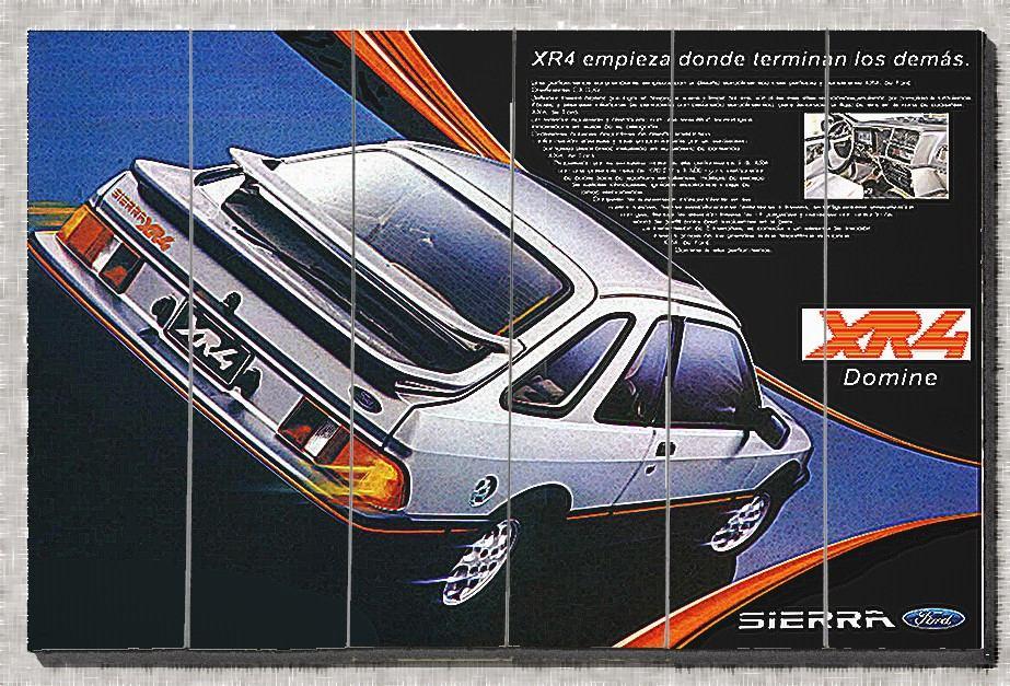 Cod C283 Cuadros De Autos Sierra Xr4 - $ 720,00 en Mercado Libre