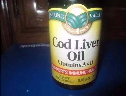 cod liver oil con vitaminas a y d marca spring valley