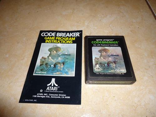 code breaker + instructivo original atari 2600 +++