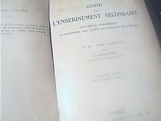 code de l'enseignement secondaire-preface gallouedec 1910
