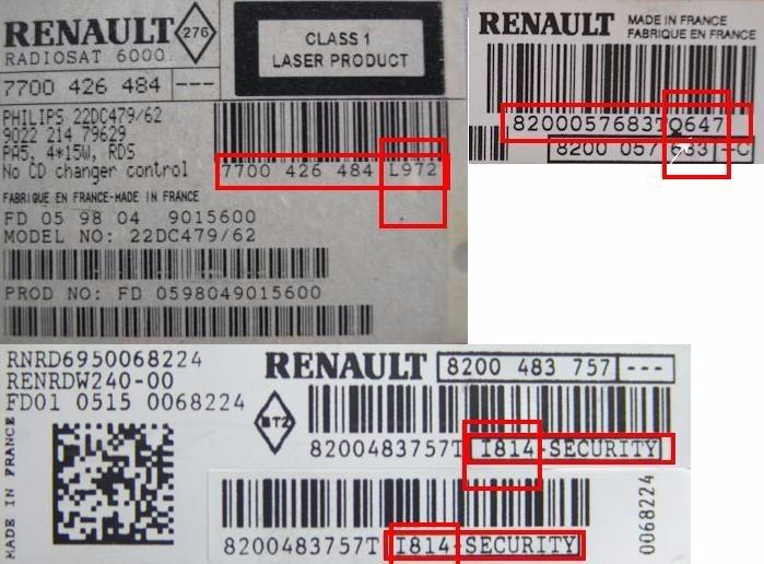 renault symbol 2016 radio code