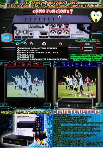 codificador digital hd entrada usb graba reproduce en tu tv.