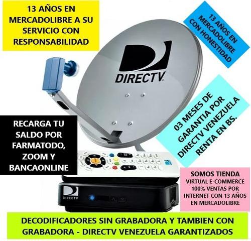 codificador hd para grabar y sin grabar directv venezuela