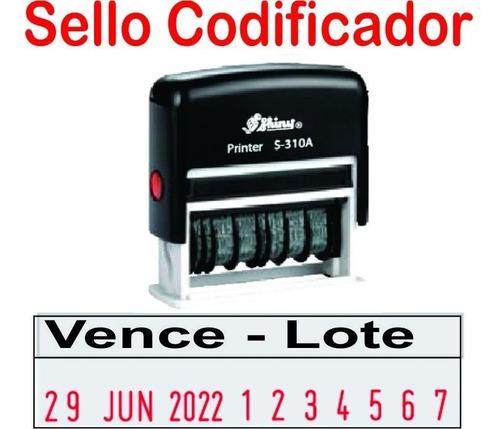 codificadora fechadora lote y vence sello económico + tinta