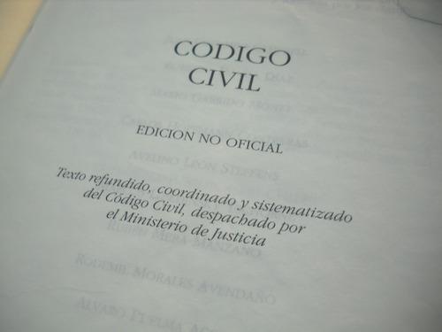 codigo civil chile edicion 2000