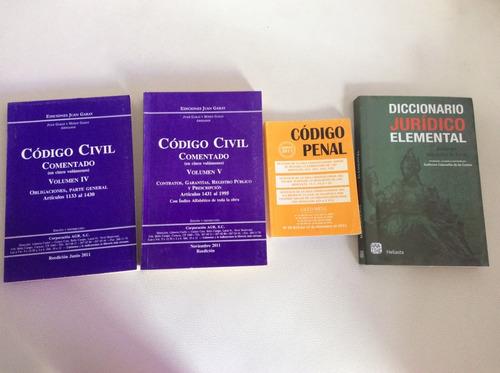 código civil - código penal - diccionario jurídico elemental