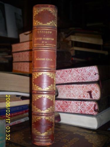 codigo civil  igon 1889 edicion de lujo