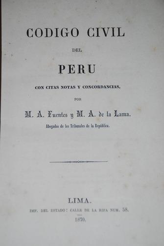 codigo civil peruano derecho antiguo peru 1870