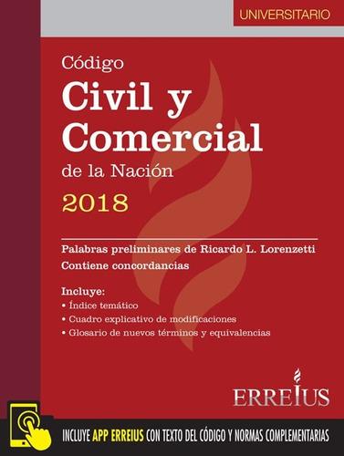 código civil y comercial de la nación 2018 - universitario