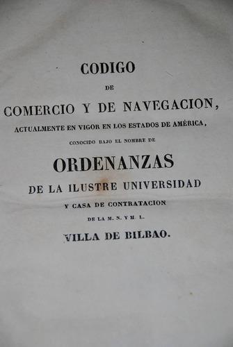 codigo comercio navegacion indias españa ordenanzas bilbao