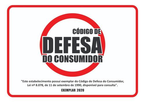 código de defesa do consumidor 2020 + placa adesiva