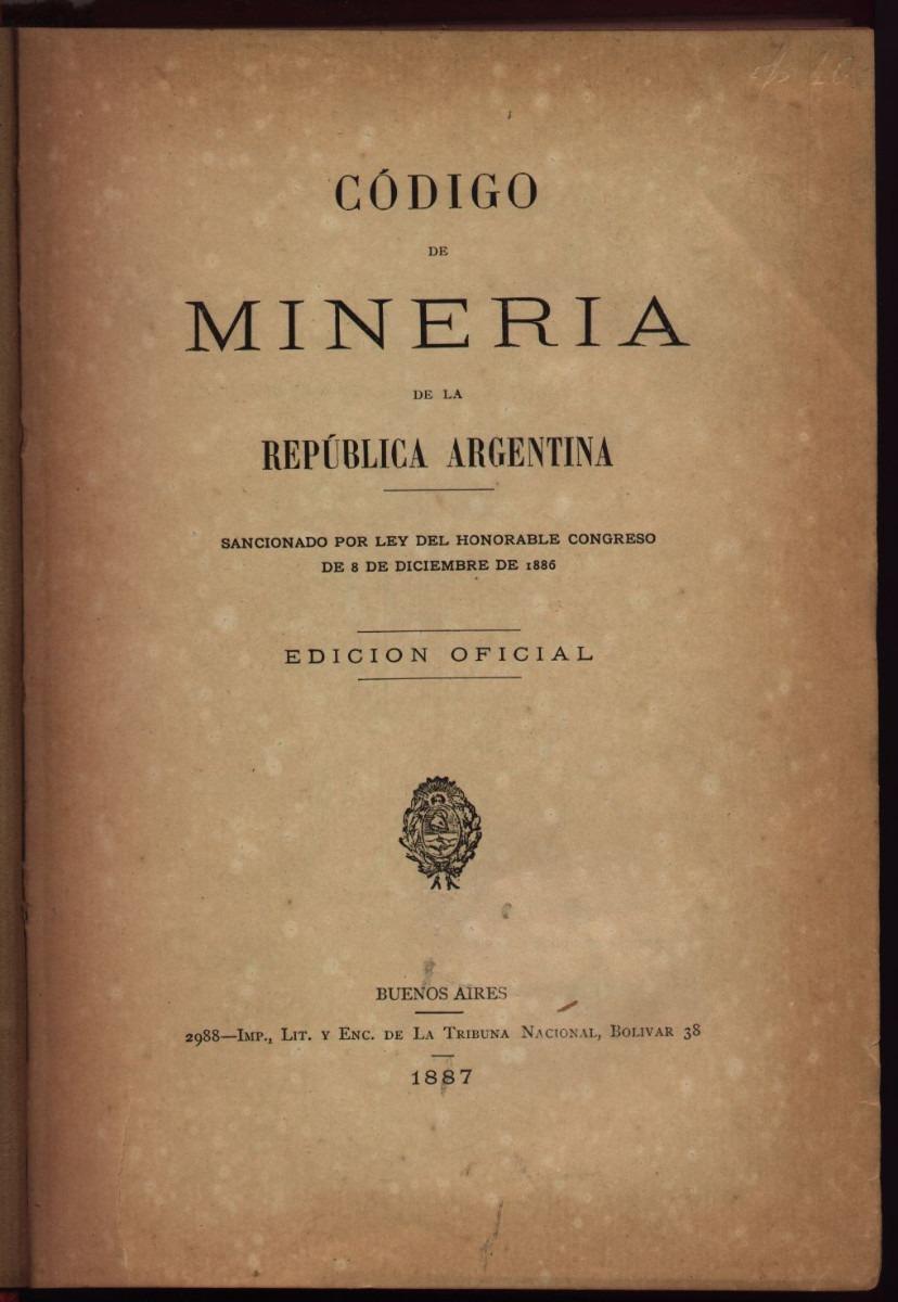 Resultado de imagen para codigo minero argentino