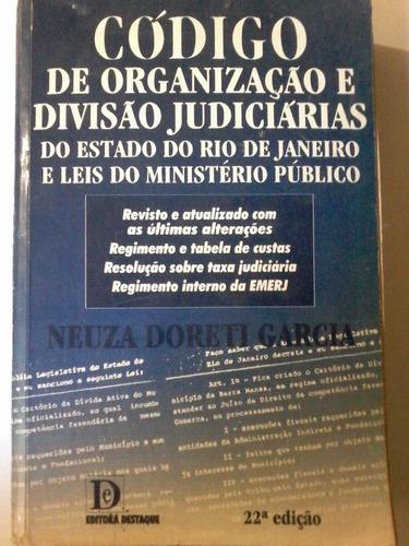 código de organização e divisão judiciárias