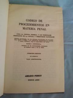 codigo de proced. en materia penal y leyes complem. (1981)