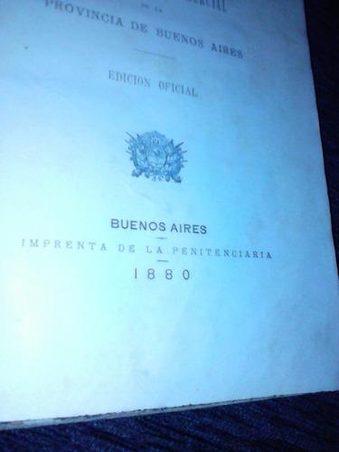 codigo de procedimientos en materia civil y comercial 1880