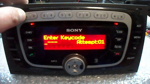 codigo de stereo sony focus mondeo kuga ecosport x nª serie