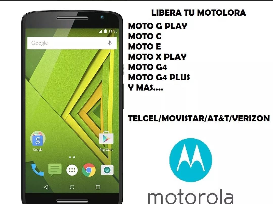 5739708b3ef Codigo Desbloqueo Liberar Red Motorola Moto Todos Y Rapido ...