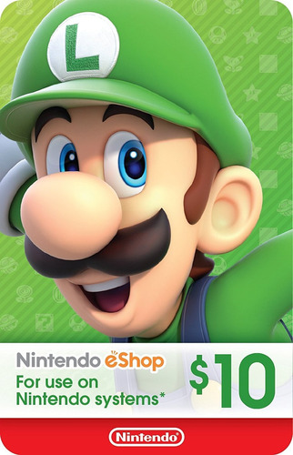 código eshop $10 para tienda virtual de nintendo