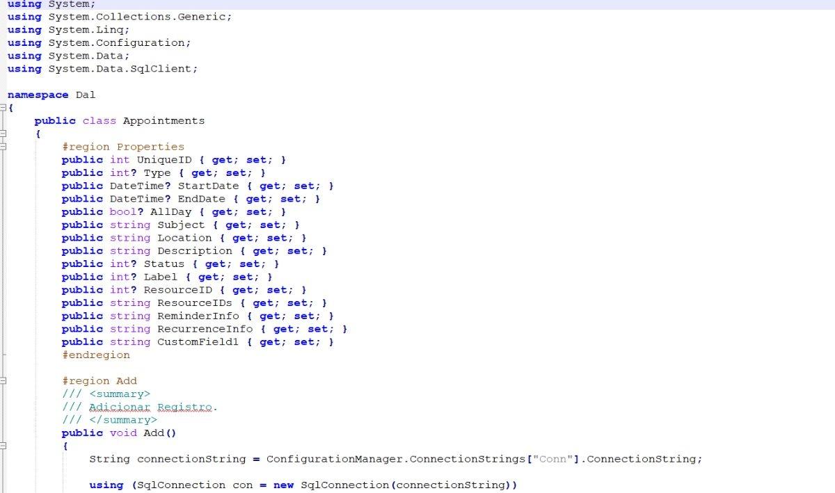 Código Facil Gerador Data Access Layer C#