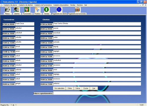 código fonte de sistema para academia - p/ computador