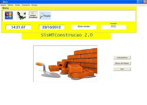 código fonte de sistema para loja de materiais de construção