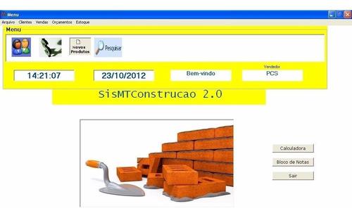 código-fonte de sistema para loja de materiais p/ construção