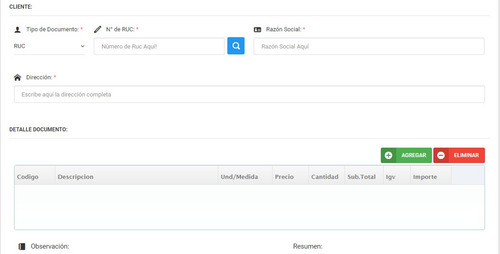 código fuente en php facturación electrónica sunat