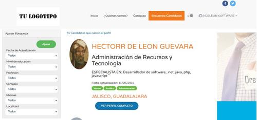 codigo fuente sistema para publicar vacantes. reclutamiento