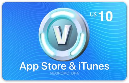 código itunes usa $10 = 1000 v-bucks fortnite iphone ipad
