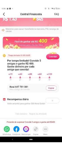 código kwai ganhe até 400 reais
