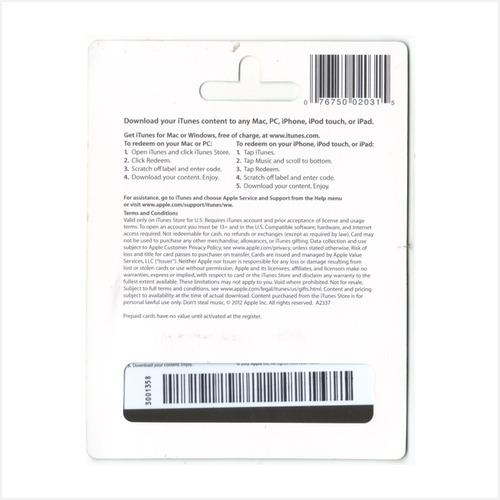 código tarjeta itunes gift card usa 50 para iphone ipad ipod