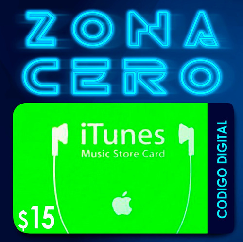 código tarjetas itunes, apps, mac de $15 de apple store usa