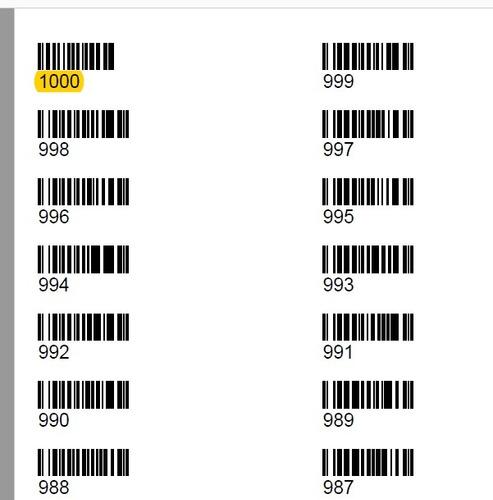 codigos de barras 1000 listos para utilizar