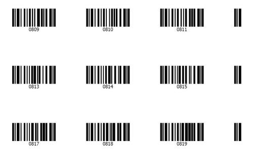 codigos de barras 2000 listos para utilizar envio rapido