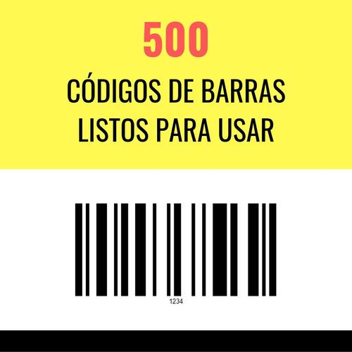 codigos de barras 500 listos para imprimir y utilizar